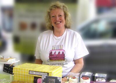 Linda at market